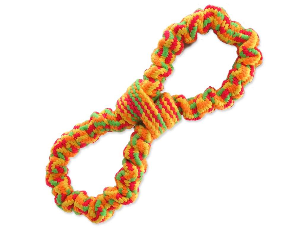 Přetahovadlo DOG FANTASY osmička barevná 25 cm