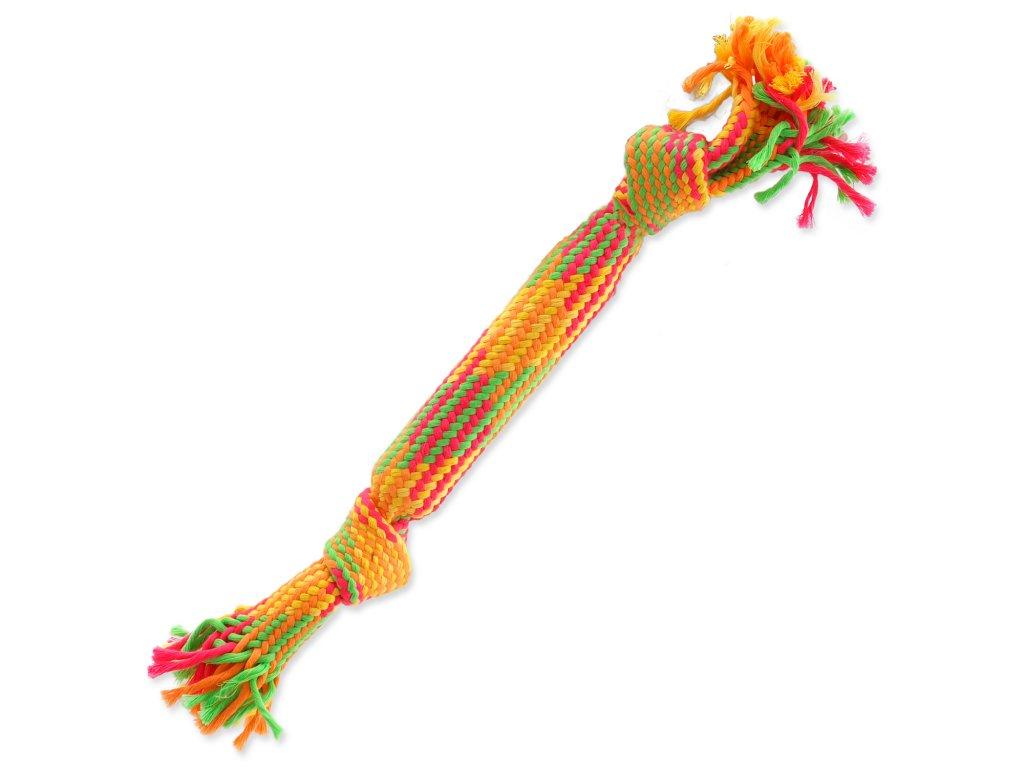 Přetahovadlo DOG FANTASY barevné se zvukem 2 knoty 40 cm