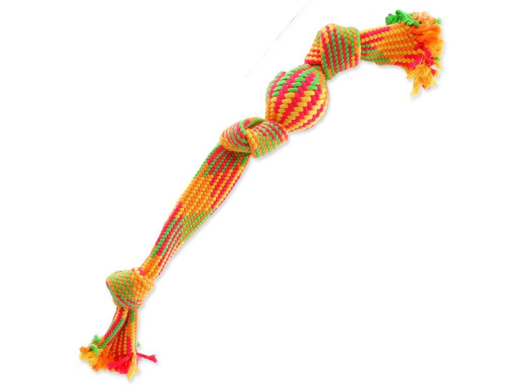 Přetahovadlo DOG FANTASY barevné míč 3 knoty 50 cm