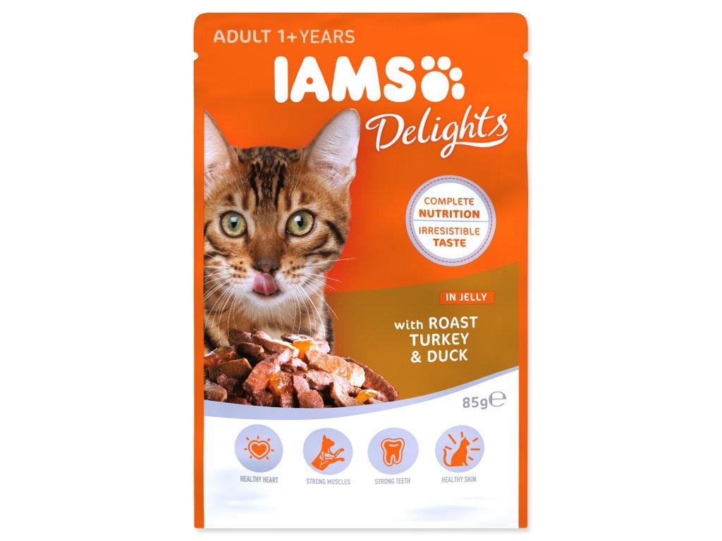 Kapsička IAMS Cat Delights Turkey & Duck in Jelly