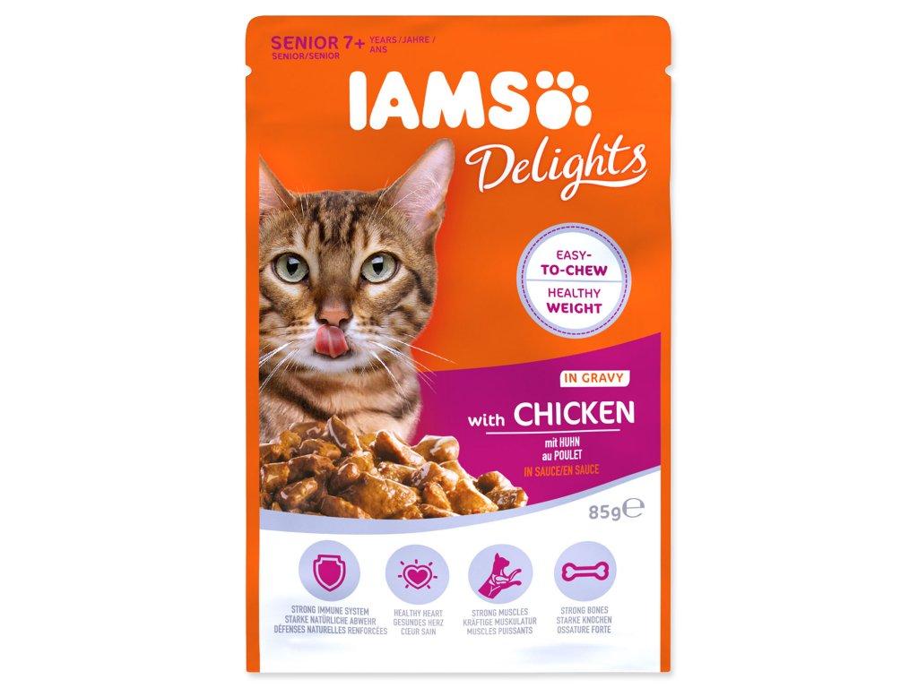 Kapsička IAMS Cat Senior Delights Chicken in Gravy