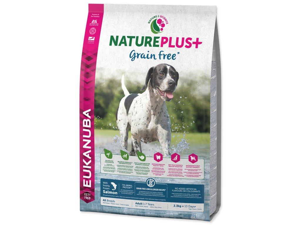 EUKANUBA Nature Plus+ Adult Grain Free Salmon