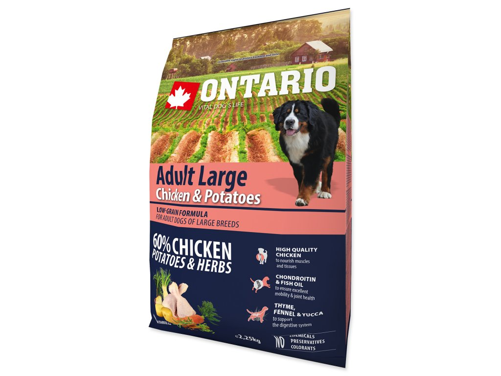 ONTARIO Dog Adult Large Chicken & Potatoes & Herbs