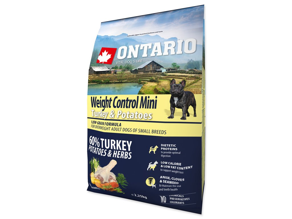 ONTARIO Dog Mini Weight Control Turkey & Potatoes