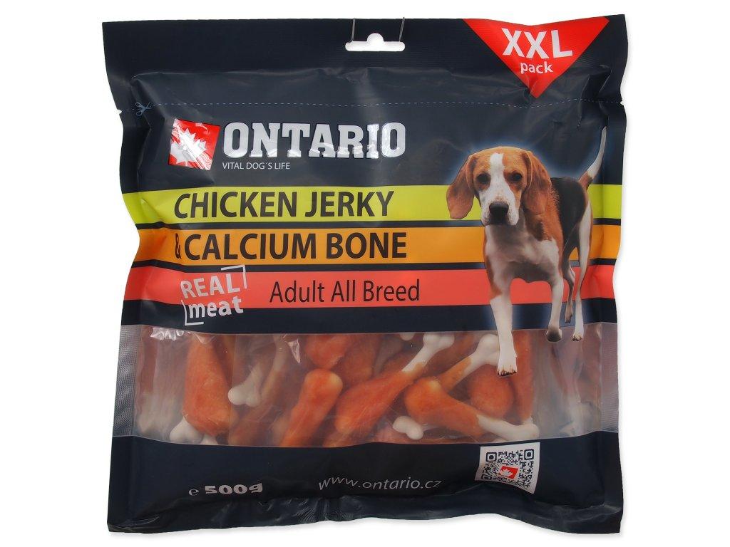 Snack ONTARIO Dog Chicken Jerky + Calcium