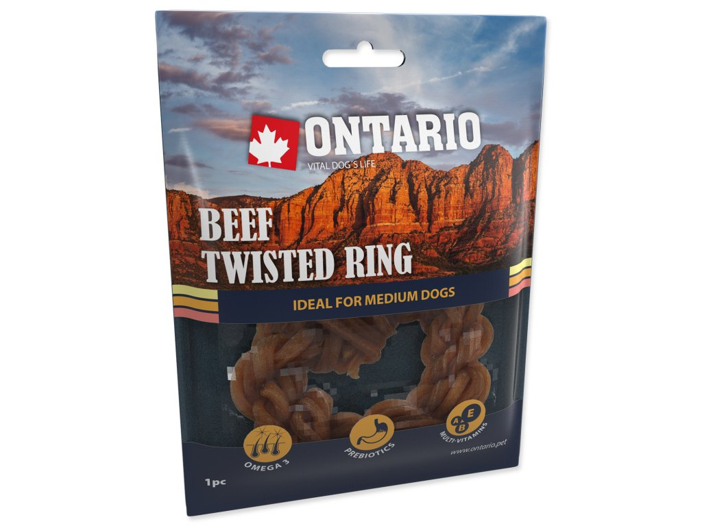 Snack ONTARIO Dog Rawhide Rings 8,75 cm