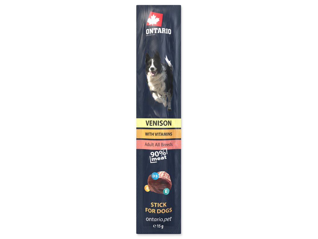 Stick ONTARIO for dogs Venison