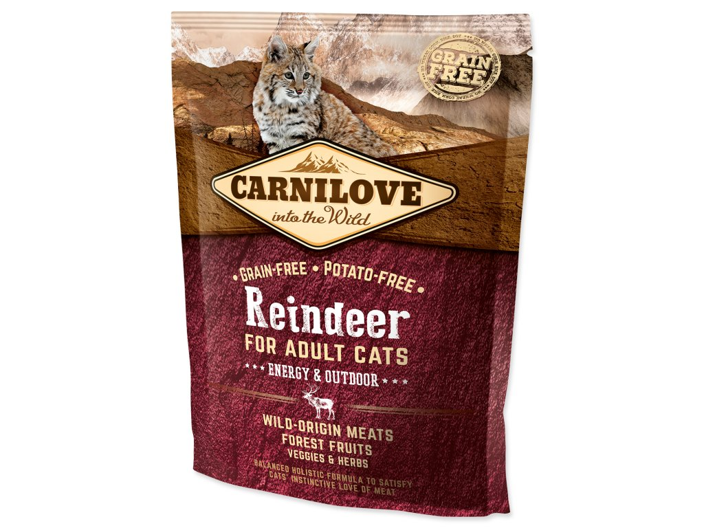 CARNILOVE Reindeer Adult Cats Energy and Outdoor