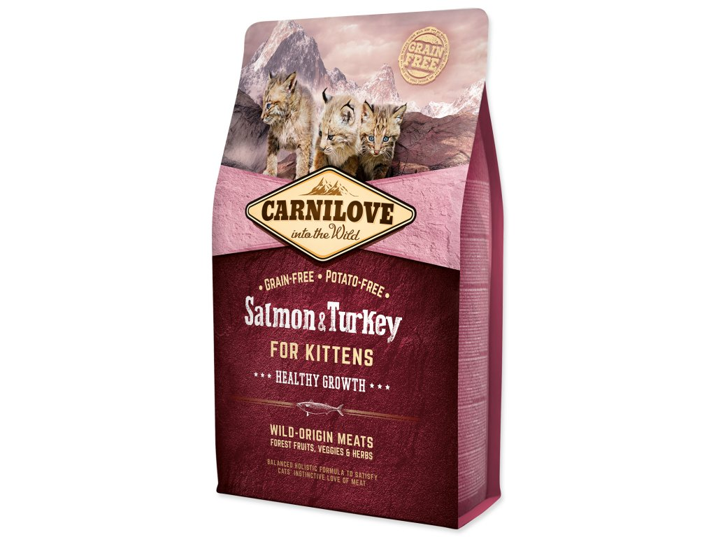 CARNILOVE Salmon and Turkey Kittens Healthy Growth
