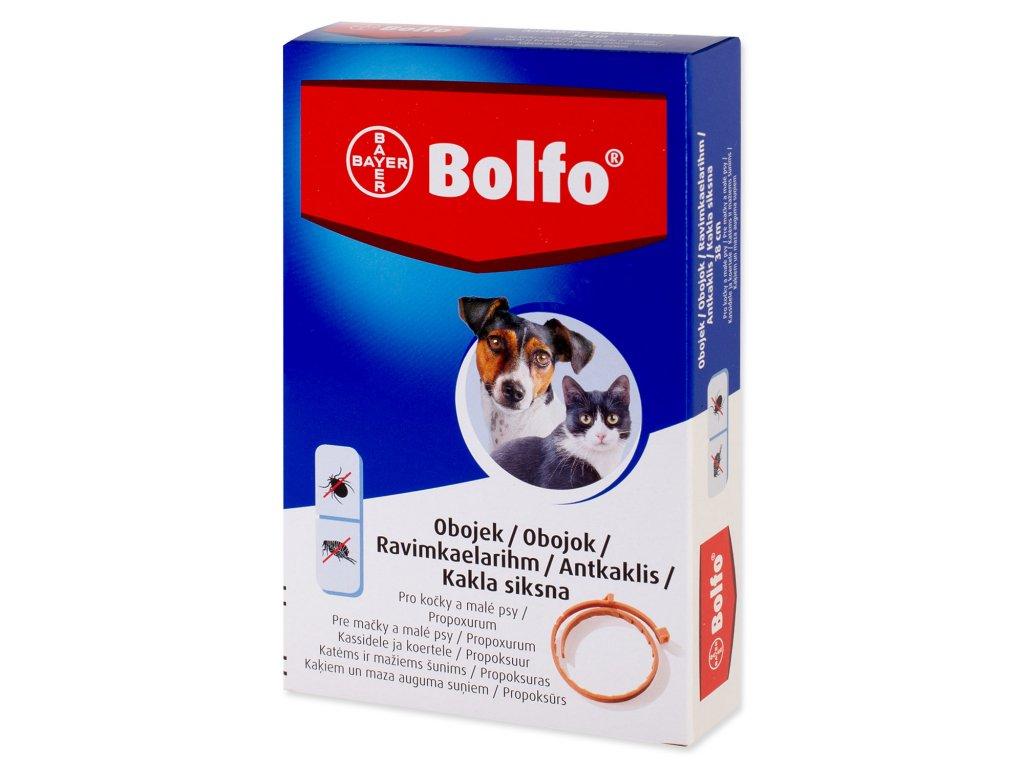Obojek BAYER BOLFO antiparazitní pro psy a kočky 38 cm