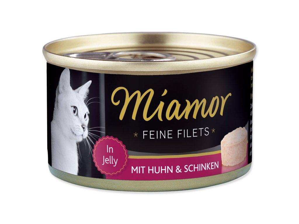 Konzerva MIAMOR Feine Filets kuře + šunka v želé