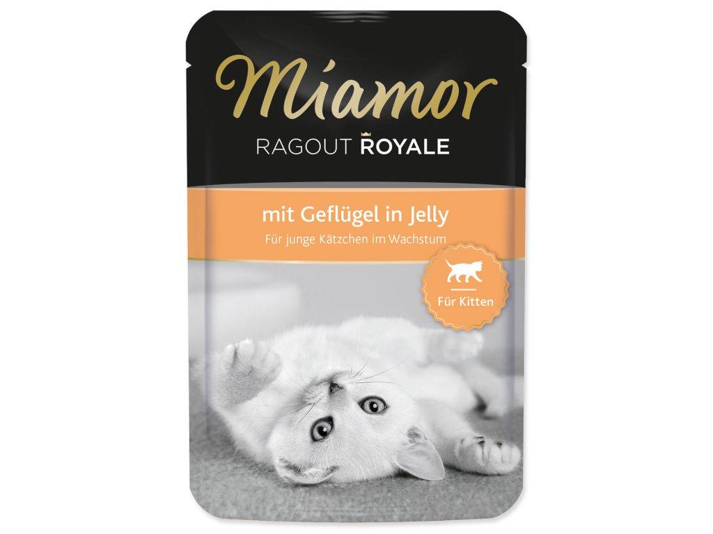Kapsička MIAMOR Ragout Royale Kitten drůbeží v želé