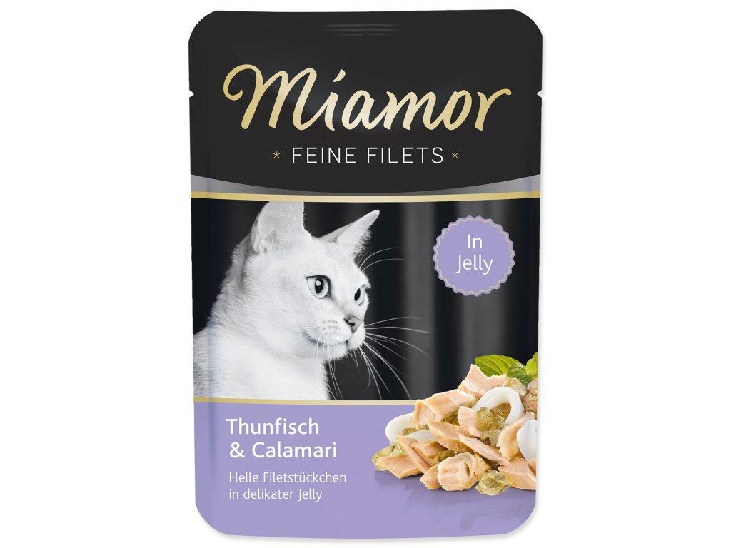 Kapsička MIAMOR Feine Filets tuňák + kalamáry v želé