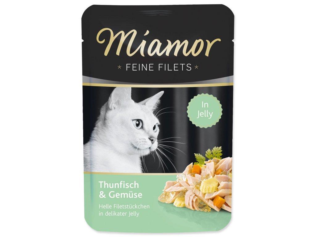 Kapsička MIAMOR Feine Filets tuňák + zelenina v želé