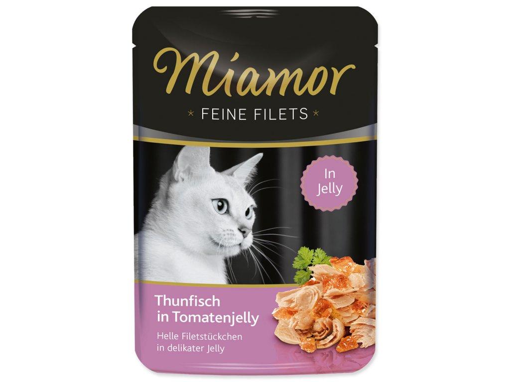 Kapsička MIAMOR Feine Filets tuňák + rajče v želé