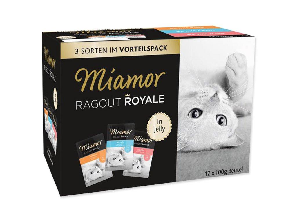 Kapsičky MIAMOR Ragout Royale krůta, losos, telecí v želé multipack