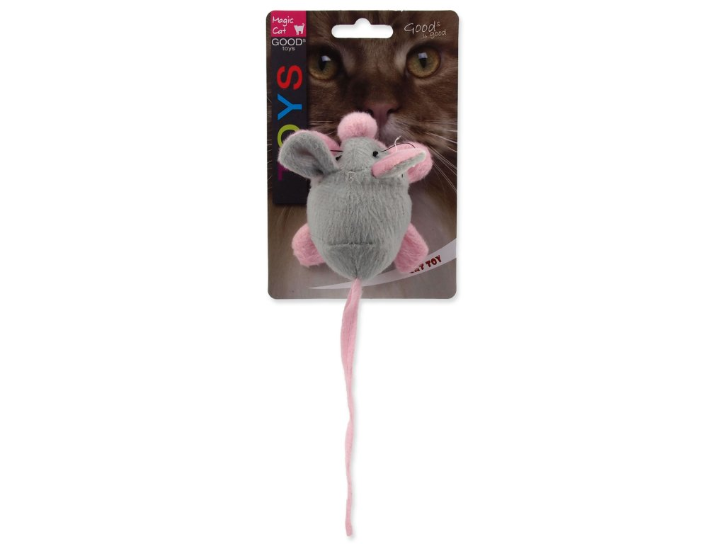 Hračka MAGIC CAT myška chrastící s catnipem mix 22,5 cm