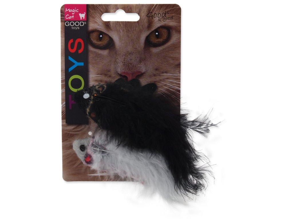 Hračka MAGIC CAT rybka se vzorem a catnipem chrastící mix 11 cm