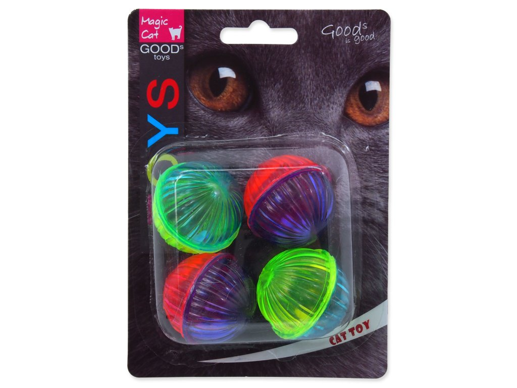 Hračka MAGIC CAT míček lesklý plastový chrastící 3,75 cm