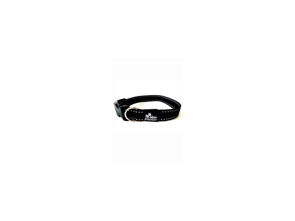 Obojek DINOFASHION reflexní černý 45/2,5cm