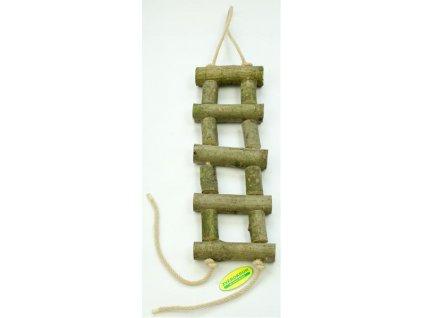 Žebřík dřevěný přírodní silnější 40 cm