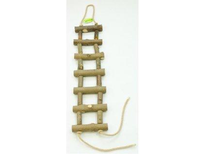 Žebřík dřevěný přírodní silnější 50 cm