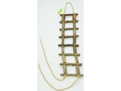Žebřík dřevěný přírodní slabší 50 cm