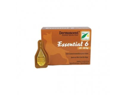 Essential 6 spot-on for dogs 20-40kg 2,4mlx4