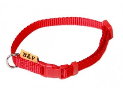 Obojek puppy nylon rozlišovací - červený B&F 1,00 x 20-35 cm