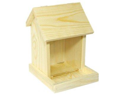 Krmítko venkovní  dřevo - zásobník 17 x 18,5 x 24 cm