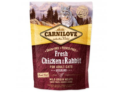 CARNILOVE Fresh Chicken & Rabbit Gourmand for Adult cats