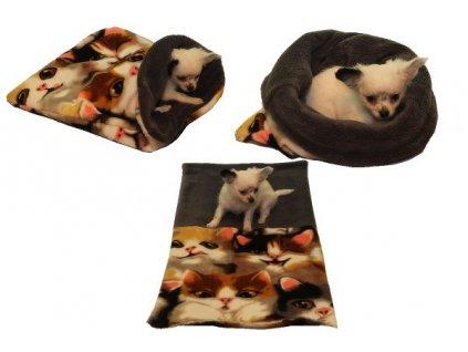 Marysa pelíšek 3v1 pro štěňátka/koťátka, kočka/šedý