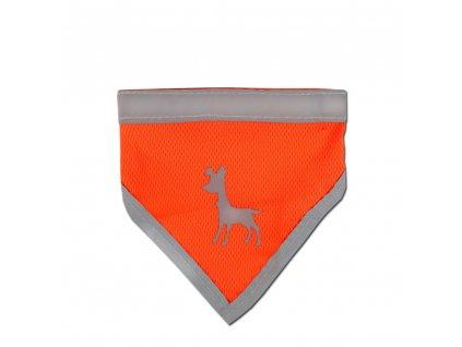 Alcott reflexní šátek pro psy, oranžový, velikost L