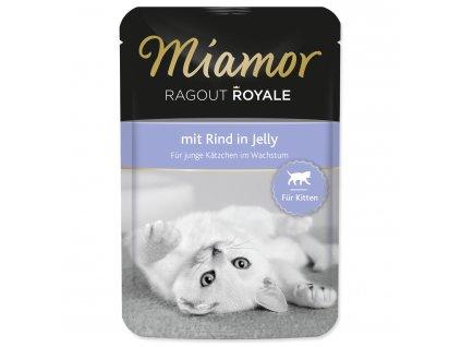 Kapsička MIAMOR Ragout Royale Kitten hovězí v želé