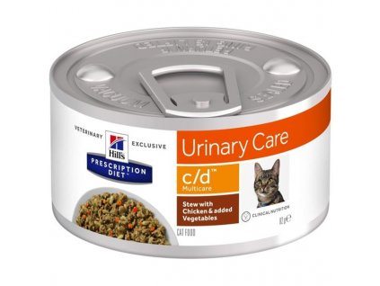 Hill's PD Feline Stew c/d Multicare with Chicken & Vegetables konzerva 82 g