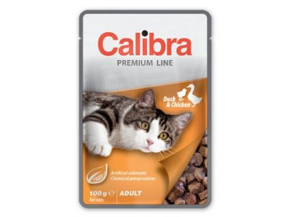 Calibra Cat  kapsa Premium Adult Duck & Chicken 100g