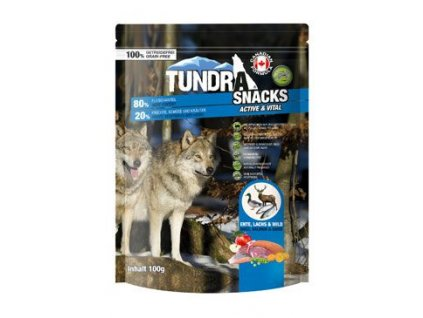 TUNDRA dog snack Duck, Salmon, Game Active&Vital 100g