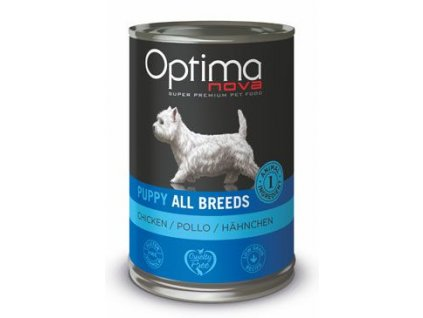 Optima Nova Dog Puppy chicken konzerva 400g