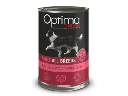 Optima Nova Dog Beef konzerva 400g