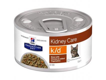 Hill's PD Feline Stew k/d with Chicken & Vegetables konzerva 82 g