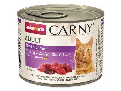 Konzerva ANIMONDA Carny Adult hovězí+jehně karton 6 x 200 g