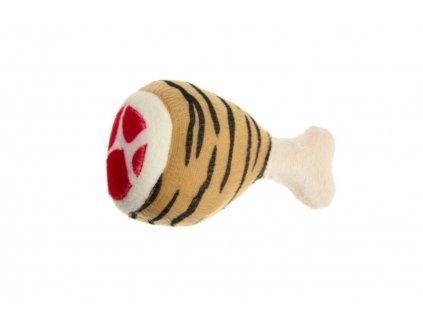 Karlie Hračka pro psy plyšová pískací tygrovaná 12,5cm