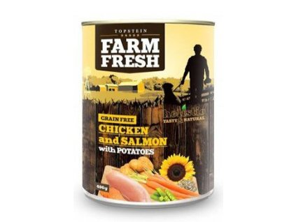 Farm Fresh Dog Chicken&Salmon with Potatoes konz 400g