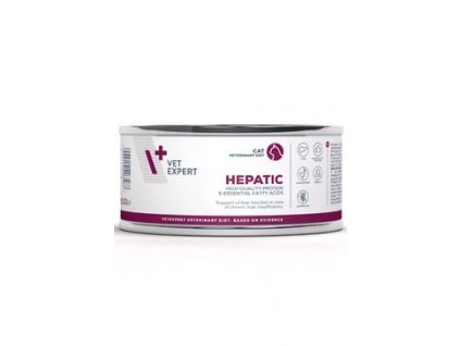 VetExpert VD 4T Hepatic Cat konzerva 100g