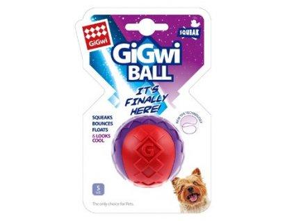 Hračka pes GiGwi Ball míček S červeno/purpurový