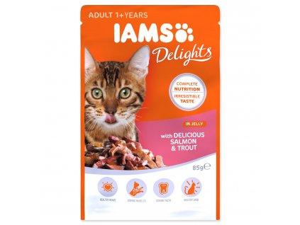 Kapsička IAMS Cat Delights Salmon & Trout in Jelly