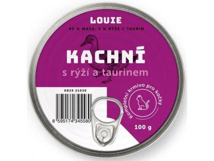 Louie konz. pro kočky kachní s rýží a taurin 100g