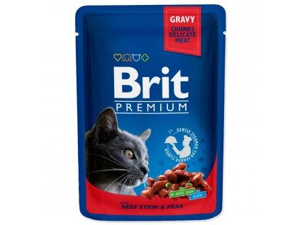 Kapsička BRIT Premium Cat Beef Stew & Peas
