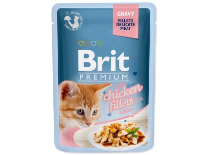 Kapsička BRIT Premium Cat Delicate Fillets in Gravy with Chicken for Kitten