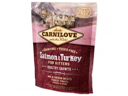 CARNILOVE Kittens Salmon and Turkey Healthy Growth